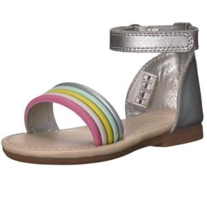 COPY - Carter's toddler rainbow sandals. Size 10